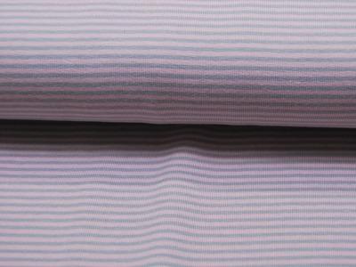 Jersey - Streifen Rosa-Grau - 0.5 Meter