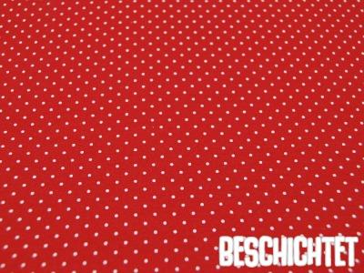 Beschichtete Baumwolle Petit Dots Rot- cm