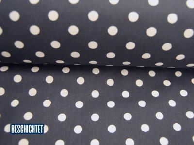 Beschichtete Baumwolle Weiße Dots auf Dunkelblau