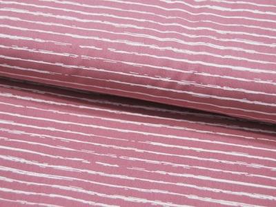 Baumwolle Weiße Streifen auf Altrosa Old