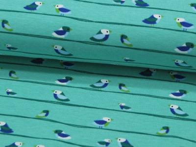 REST Jersey - Vögel auf Mint