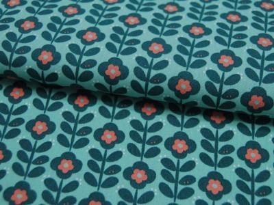 Beschichtete Baumwolle Graphic Flower Blumen auf