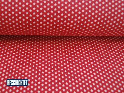 Beschichtete Baumwolle Mini Sterne Rot- cm