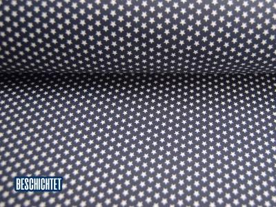 Beschichtete Baumwolle Mini Sterne Dunkelblau- cm