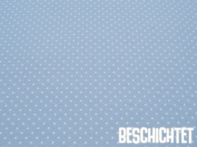 Beschichtete Baumwolle Petit Dots Hellblau- cm