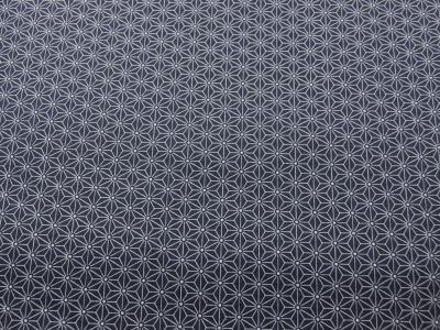 Beschichtete Baumwolle Asanoha Dunkelblau 50 x