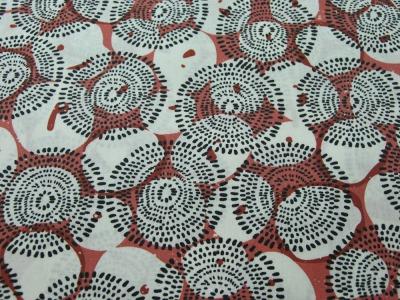 Beschichtete Baumwolle - Graphisches Muster auf Rost 50 x75 cm
