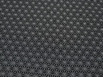 Beschichtete Baumwolle Asanoha Schwarz-Weiß 50 x