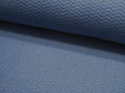 Stepper Fischgrat Jeansblau mit Einwebungen 05m
