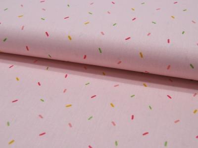 Baumwolle Glitter Joyful Stripes Konfetti auf