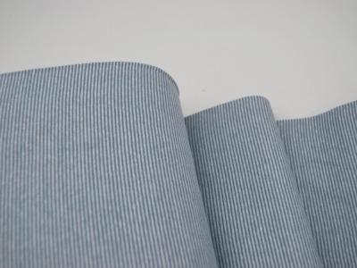 Bündchen Ringelbündchen Hellblau-Weiß cm im Schlauch