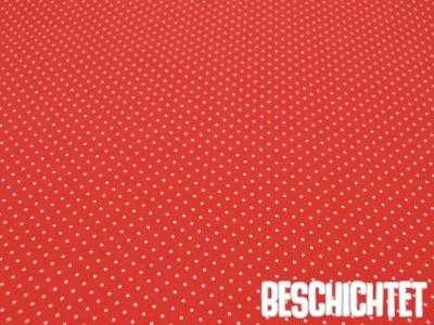 Beschichtete Baumwolle Petit Dots Koralle- cm