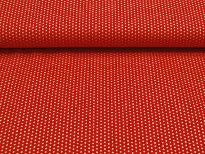 Goldene Punkte auf Rot - Baumwolle
