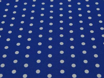 Beschichtete Baumwolle Leona Dots auf Blau