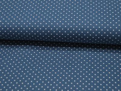 Petit Dots auf Blue Jeansblau Baumwolle