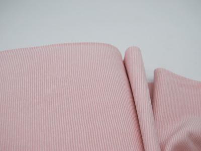 Bündchen Ringelbündchen Rosa-Weiß cm im Schlauch