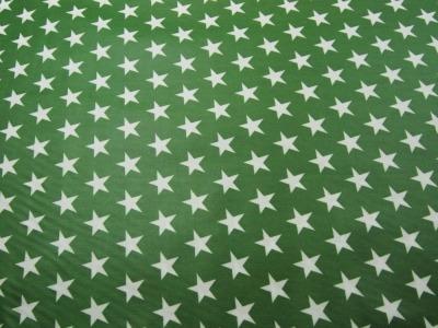 Beschichtete Baumwolle Sterne auf Waldgrün 50x70