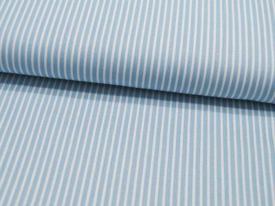 Baumwolle - Stripe - Hellblau-Weiss gestreift