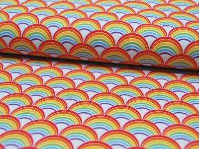 Baumwolle - Kim - Regenbogenmuster -