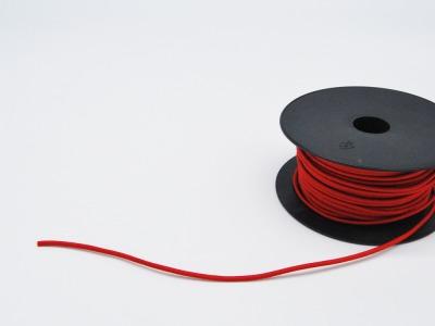 Rundgummi aus Kunstseide Meter Rot mm