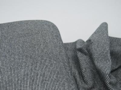 Bündchen Ringelbündchen Schwarz-Weiß cm im Schlauch