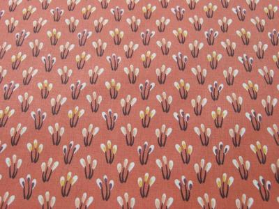 Beschichtete Baumwolle - Blüten auf Matt Apricot 50 x75 cm