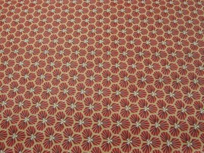 Beschichtete Baumwolle Honigwaben BURGUNDY - 50 x 76 cm