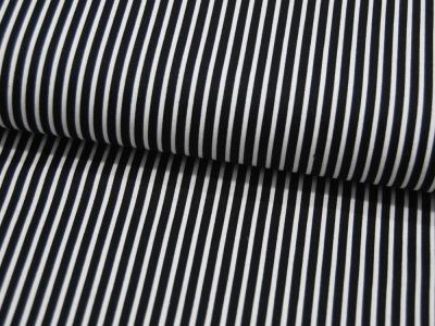 Baumwolle - Stripe - Schwarz-Weiss gestreift