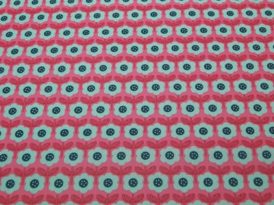 Beschichtete Baumwolle Blumenmuster auf Dunkel Pink