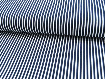 Baumwolle - Stripe -Nachtblau-Weiss gestreift
