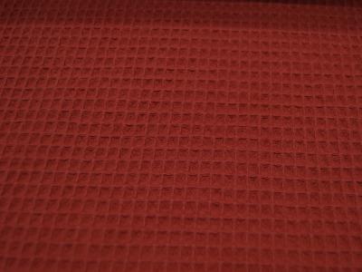 Wafflepique Baumwolle in Brick Ziegelsteinrot 05m