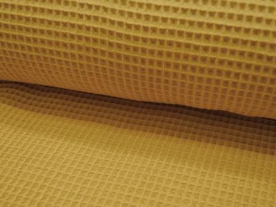 Wafflepique Baumwolle in Gelb Senf 05m