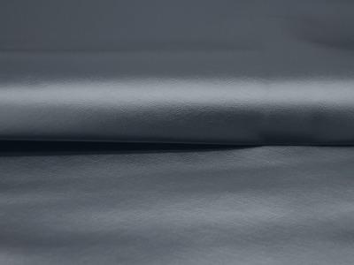 Kunstleder mattiert metallic Rauchblau cm und