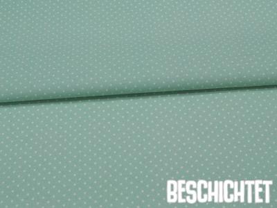 Beschichtete Baumwolle Petit Dots Mint- cm
