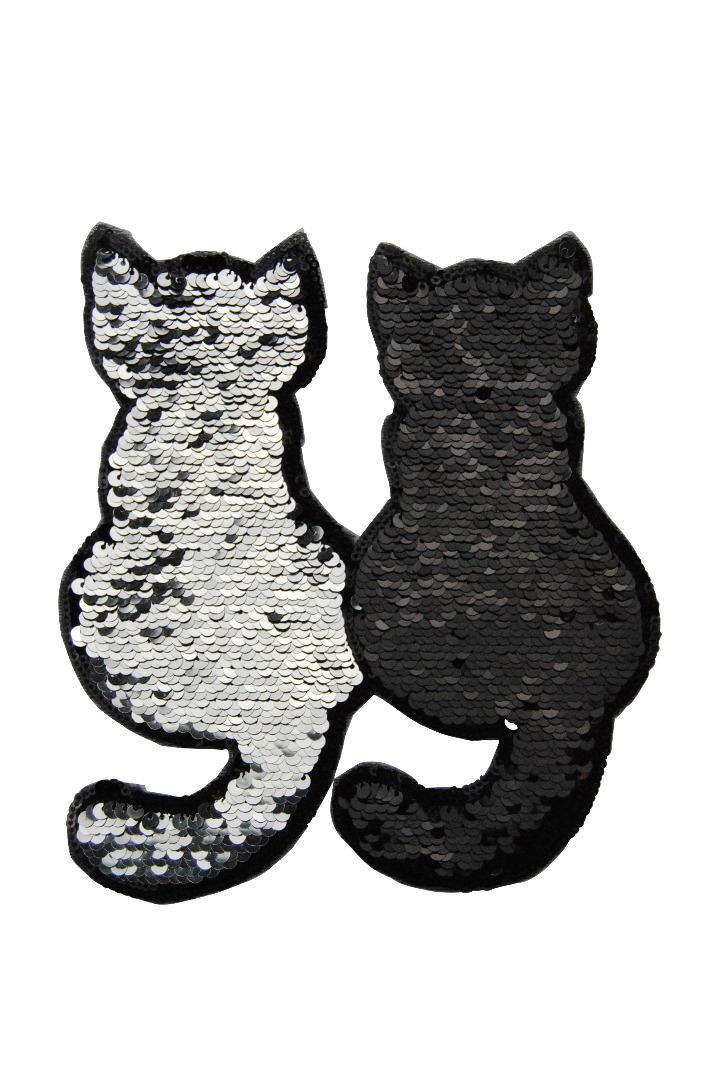 50 VE Katzenpaar silber/schwarz - 1