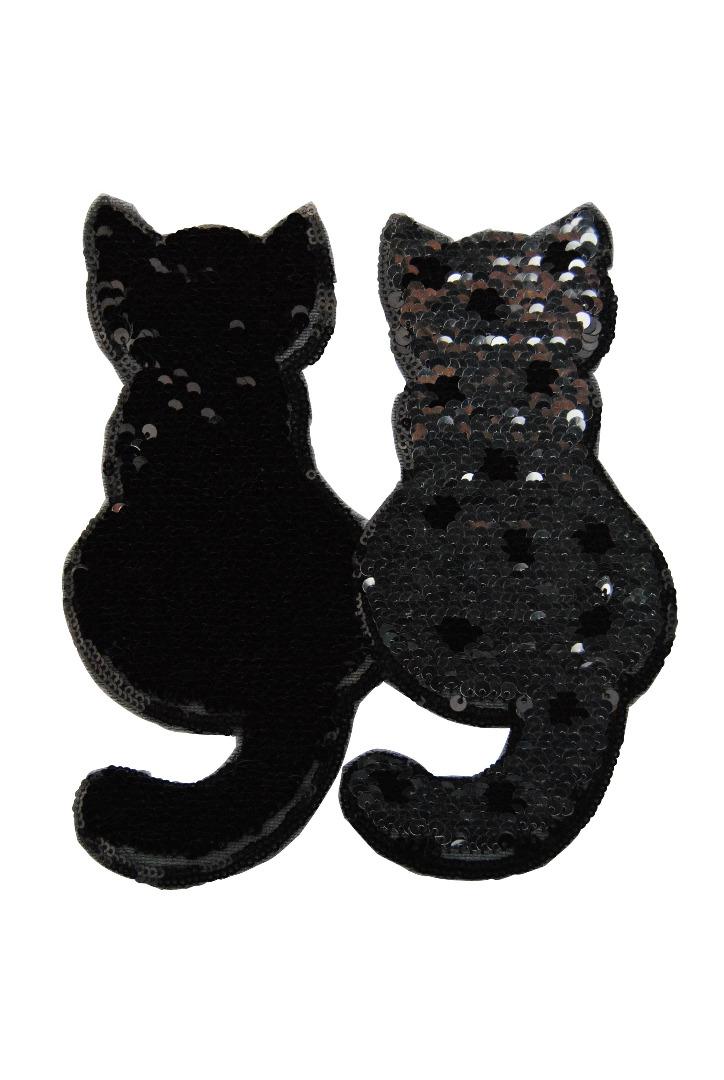 10 VE Katzenpaar silber/schwarz - 1