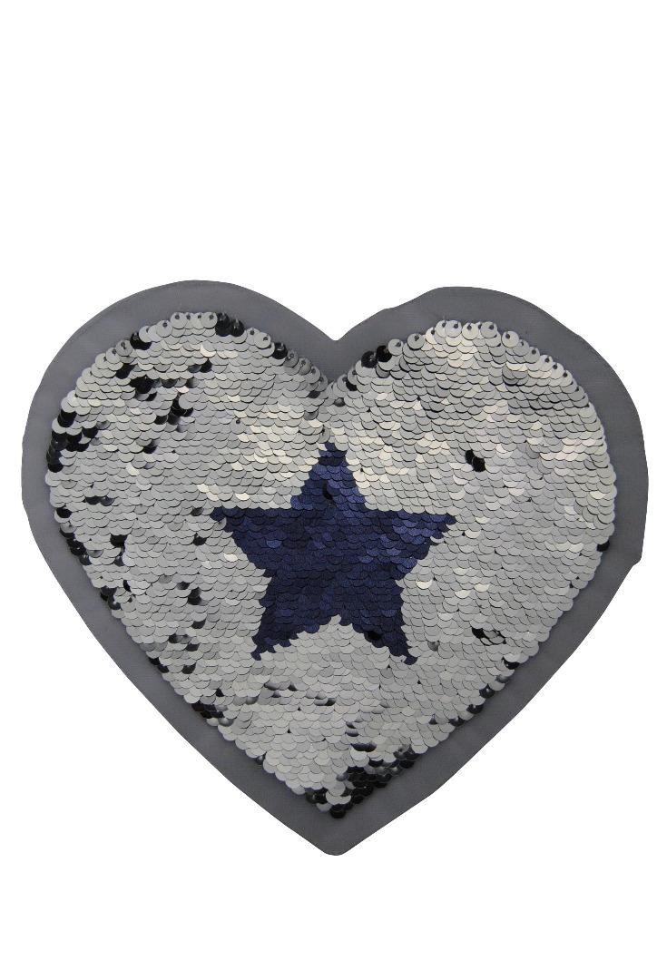 VE 50 Herz mit Sterne silber / dunkelblau - 2