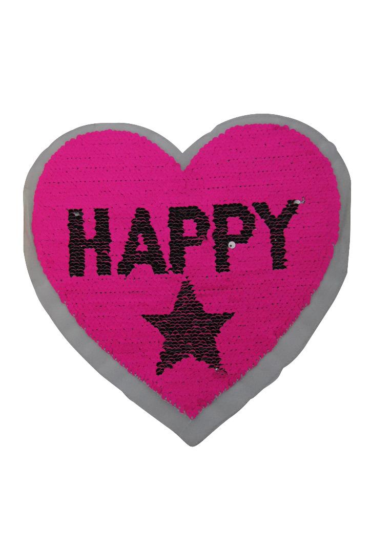VE 10 Herz Happy silber / pink - 2