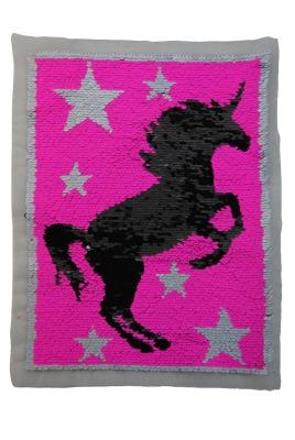 VE 10 Einhorn Sterne pink / silber sofort lieferbar