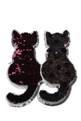 50 VE Katzenpaar silber/rose