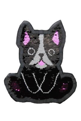 VE 10 Hund schwarz / weiss / pink