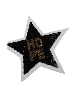 100 VE Stern Hope gold / schwarz und silber/rosa