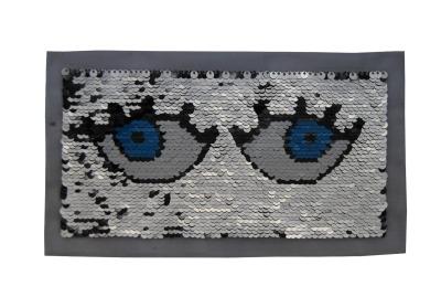 50 VE Augen pink / weiss / blau und silber