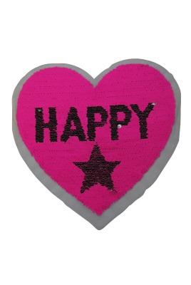 VE 10 Herz Happy silber / pink