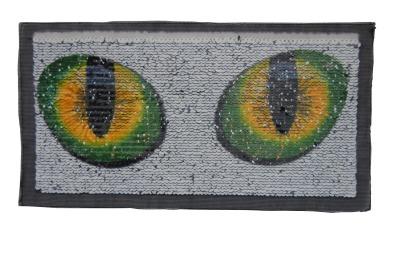 VE 50 Augen weiss/grün/gelb und schwarz orange