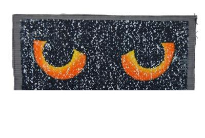 VE 10 Augen weiss/grün/gelb und schwarz orange