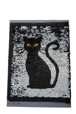 VE 50 Katze schwarz / silber