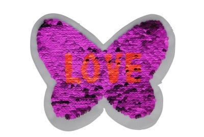 50 VE Schmetterling blau / silber und pink / rot