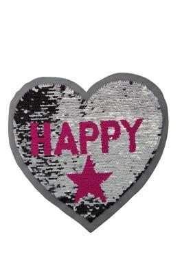 VE 50 Herz Happy silber / pink