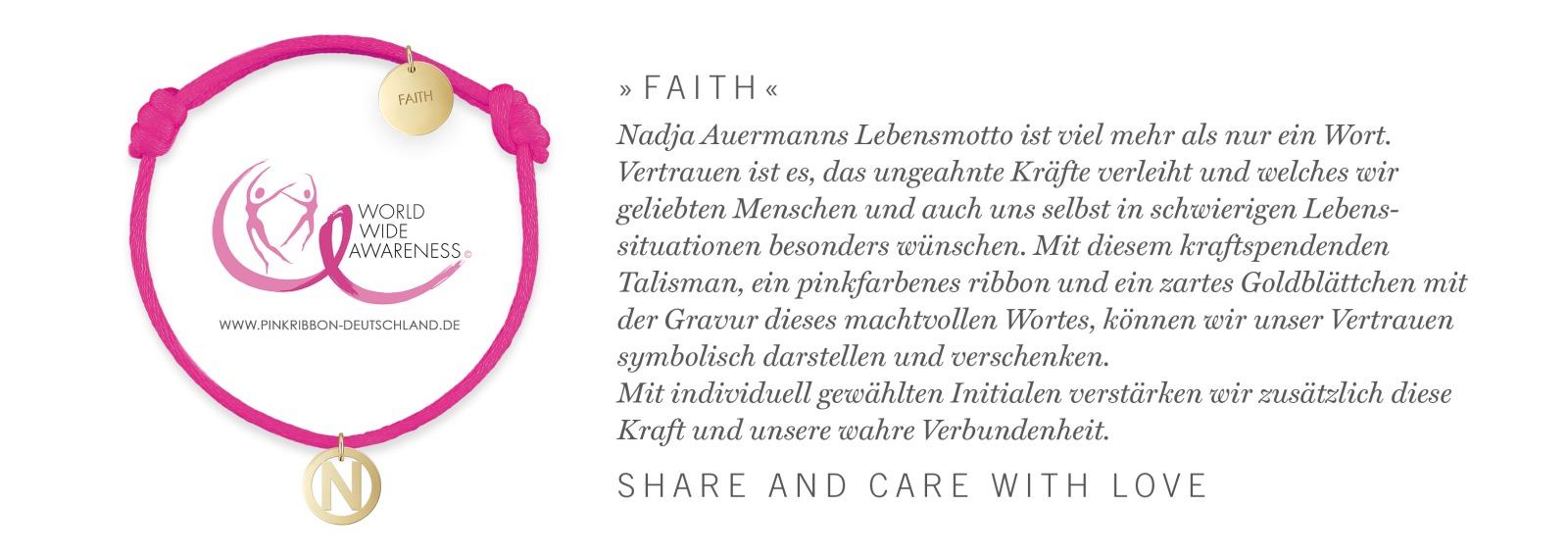 NEW Charity Edition FAITH by Nadja Auermann - Glamour